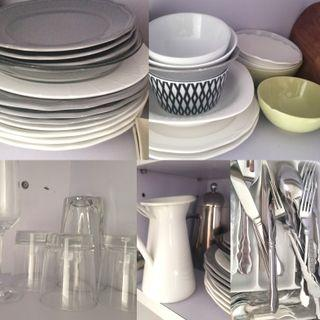 New: Plates Bowls Glasses Cutlery
