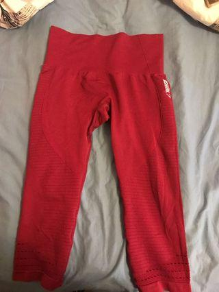Gymshark gym leggings dark red