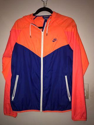 Nike blue/orange neon windbreaker