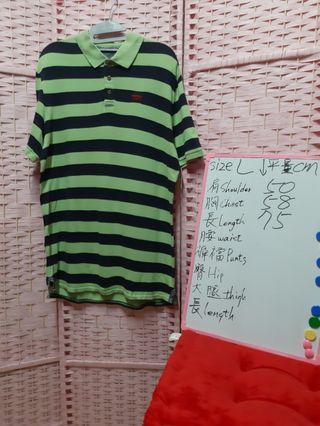 LEVI'S 短袖POLO 尺碼size L 可参考白板