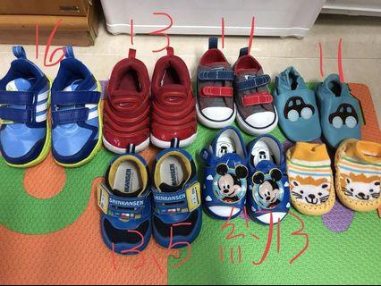 幼兒鞋款 (有不同size) 波鞋 涼鞋 學步鞋