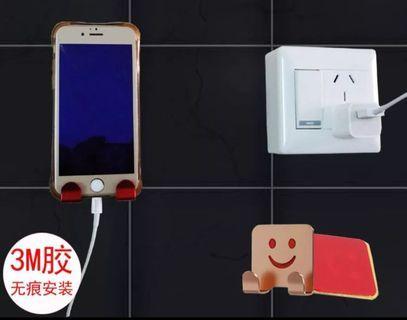 手機置物架 牆面 壁掛 免釘充電支架
