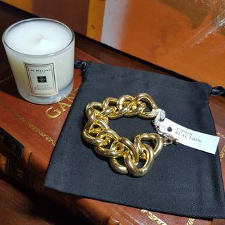 🚚 Gold Chunky Chain Bracelet
