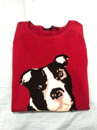 French Connection Red Dog Sweater