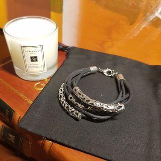 🚚 Multi Strap Bracelet with Silver Ornament
