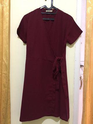 #BAPAU Maroon Simple Dress