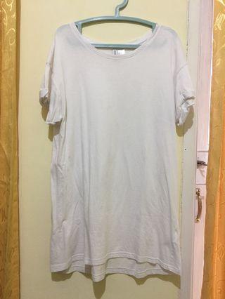 #BAPAU H&M White Long Shirt