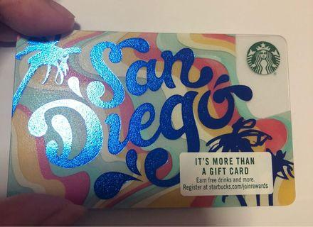 🚚 Starbucks San Diego Card from USA 2018