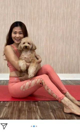 🚚 Moenka Premium Criss Cross leggings in Rose