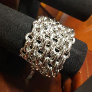 🚚 Designer Chunky Silver Bracelet