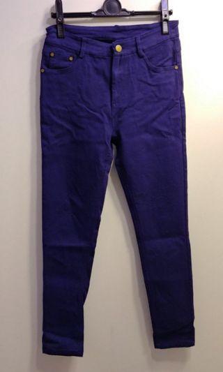 深紫藍色長褲