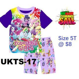 Clearance----Equestria Girls Short Sleeve Tshirt & Shorts Set for 5T