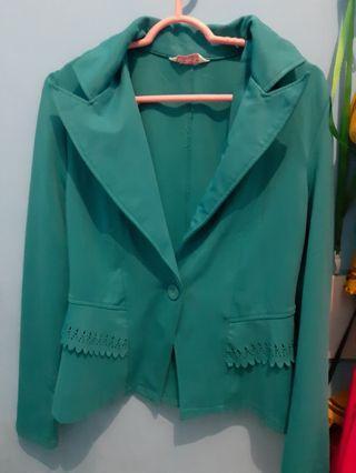 #bapau preloved Blazer hijau tosca