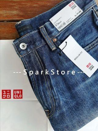 Uniqlo Celana Jeans Regular Fit Biru