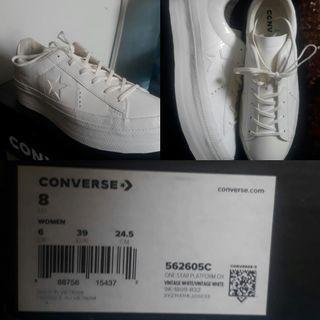 Converse One Star Platform Ox Vintage White