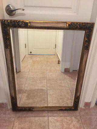 Luxurious Gold Plated Entrance Mirror