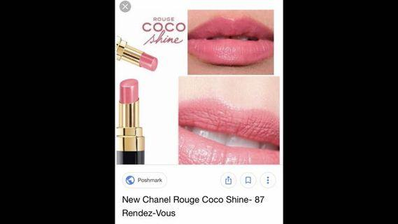 Chanel rouge coco shine 87 rendezvous