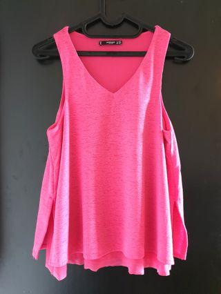 Pink Tank Top by MANGO