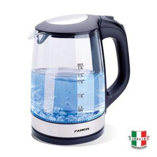 Faber Glass Body Jug Kettle - 2.0 Liters (FCK CRISTALLO 180 BK)