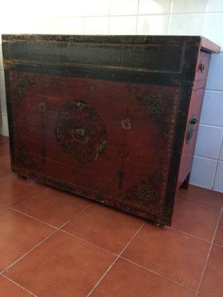 Beautiful hand crafted Antique Mongolian Cabinet