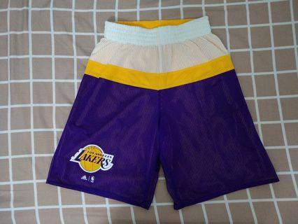 New NBA Adidas La Lakers Reversible Shorts Size S