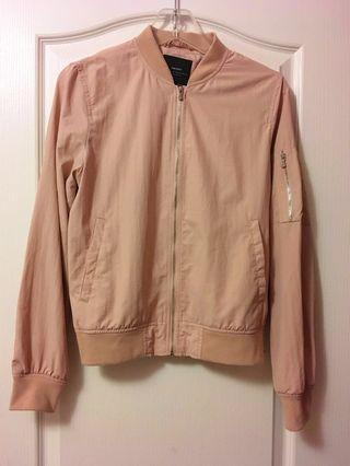 Light Pink Zara Bomber Jacket - XS