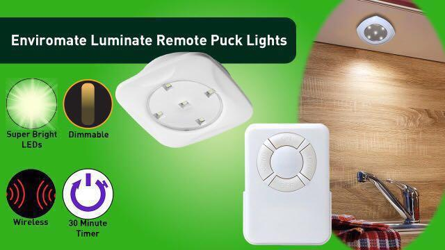 1for3 Luminate remote LED puck light