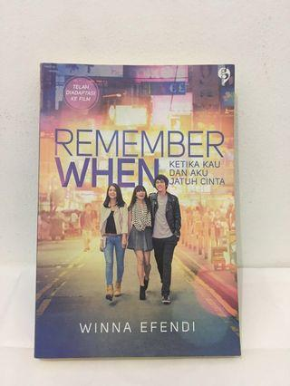 novel, gagasmedia, winna efendi, remember when