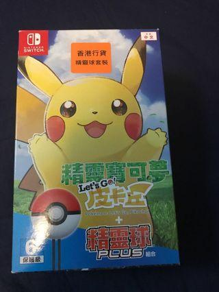 Pokemon switch 比卡超 game & ball