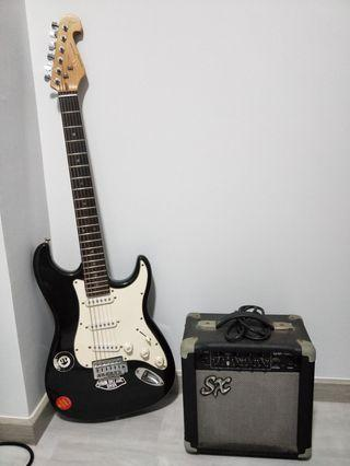 SX Stratocaster bundle with amp