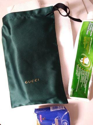 Gucci satin料手機/眼鏡/雜物袋