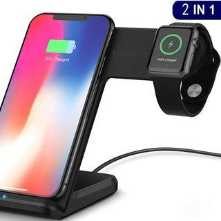 2-in-1 FAST CHARGE Wireless Charger Stand