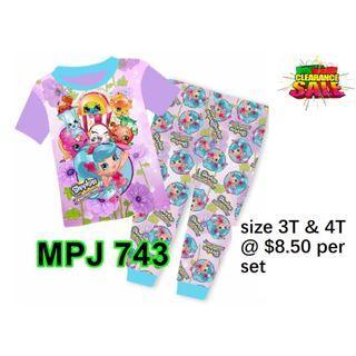Clearance----Shopkins  Short Sleeve Pyjamas  for  3T & 4T