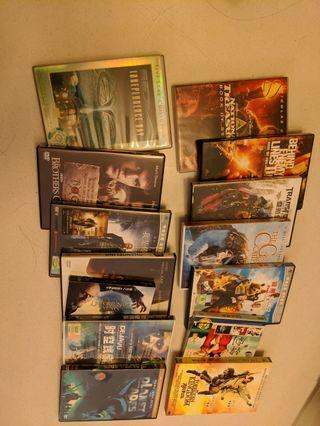 Blockbuster movies and CDs selling in a bundle