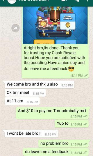 CHEAPEST CLASH ROYALE BOOSTING!!!!PROMOTION!!!