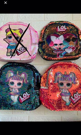Instock new arrival LoL surprise kids bag Ht 28cm gd quality brand new