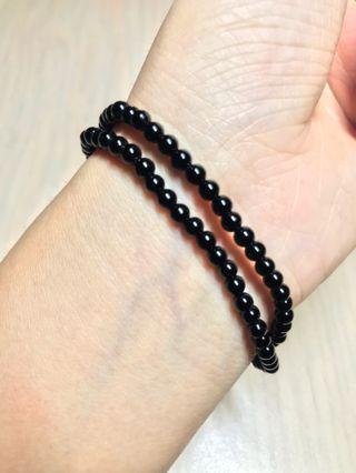 4 mm Black Tourmaline Bracelet