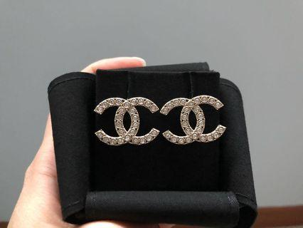Chanel brand new crystal CC earrings