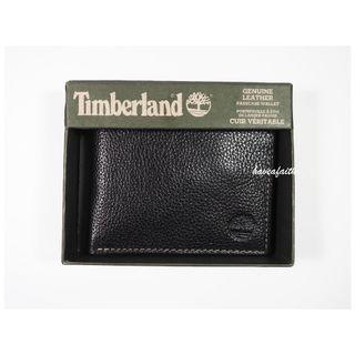 🚚 (美國帶回)Timberland 酷黑真皮對摺輕便皮夾(Timberland Fearless Black Genuine leather Wallet)