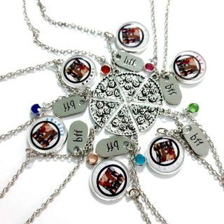 Custom bff pizza necklaces set of 6