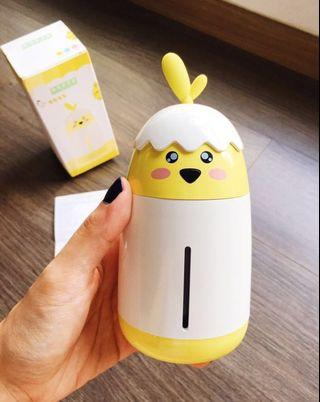 (Ready stock) Portable mini cartoon chick air humidifier car home aromatherapy humidifier diffuser Purifier led light