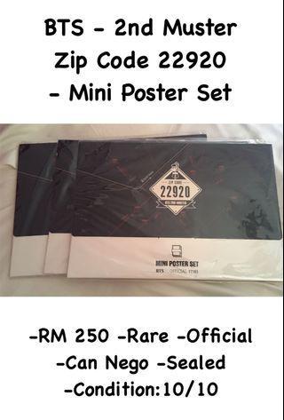 BTS 2nd Muster Zip Code 22920 - Mini Poster Set