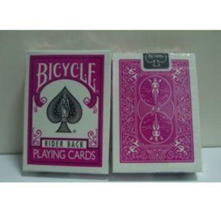 Fuchsia Bicycle Playing Card