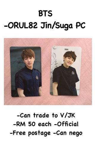 BTS ORUL82 Official PC - Suga/Jin