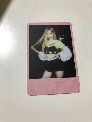 Wts blackpink rose rare pic photocard polariod kill this love