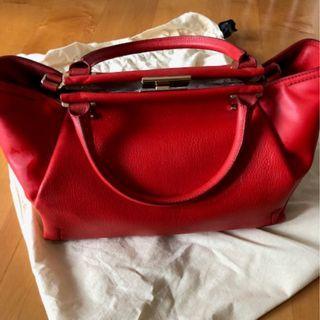 Crimson Lanvin leather bag