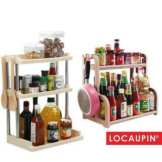 Kitchen 2 Tiers Seasoning Storage Rack