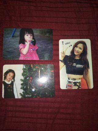 Twice Mina TSB photocards