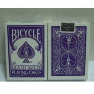 PURPLE BICYCLE PLAYING CARD