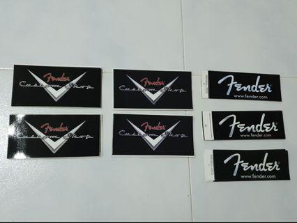 Fender bumper stickers